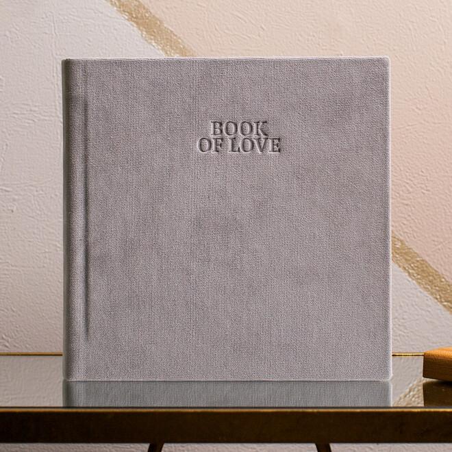 "Серый бархат с пустым тиснением ""Book of love"""